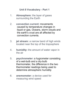 Unit 8 Vocabulary - Part 1 Atmosphere