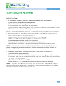 Post-test (with Answers) - American Academy of Pediatrics