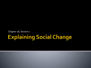 Explaining Social Change