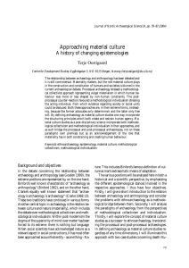 Approaching material culture