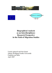3. The biographical research perspective in the