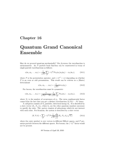 Quantum Grand Canonical Ensemble
