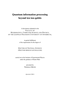 Quantum information processing beyond ten ion