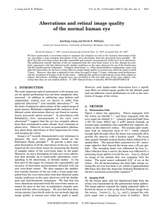 Aberrations and retinal image quality of the normal human eye