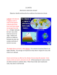 13.2 NOTES What factors determine climate? Objective: Identify and