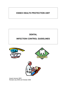 Dental Infection Control Guidelines