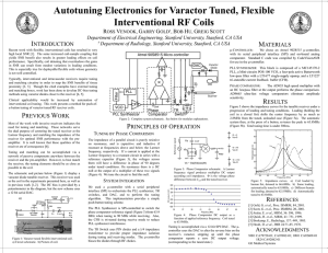 (Figure 1) display a varactor diode tunable