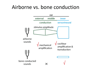 Airborne vs. bone conduction