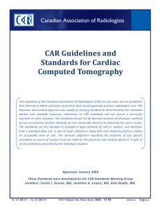 CAR Guidelines and Standards for Cardiac Computed Tomography