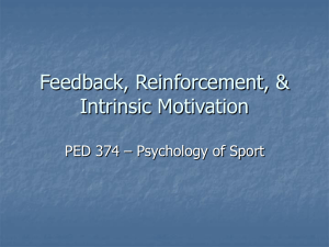 "Sample Lecture: ""Feedback Reinforcement and Intrinsic Motivation"""