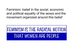 Feminisms and sociology (PowerPoint)