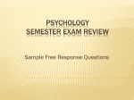 Psychology Semester Exam Review