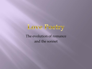 The evolution of romance and the sonnet