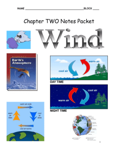 Chapter 2 WINDS Notes - Mr. Ruggiero`s Science 8-2