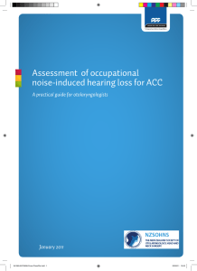 Assessment of occupational noise