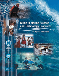 Guide to Marine Science and Technology Programs in Higher
