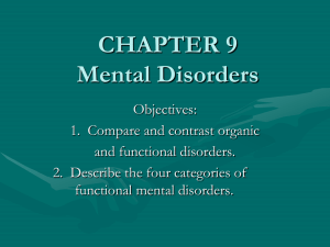 CHAPTER 10 Mental Disorders