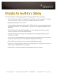 Principles for Health Care Delivery