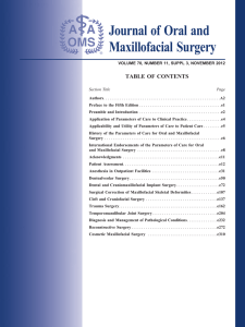 Journal of Oral and Maxillofacial Surgery