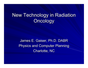 New Technology in Radiation Oncology