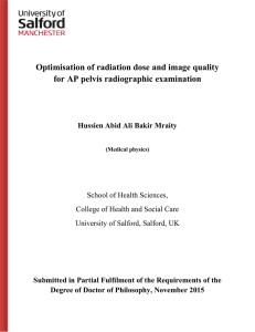 Optimisation of radiation dose and image quality for AP pelvis