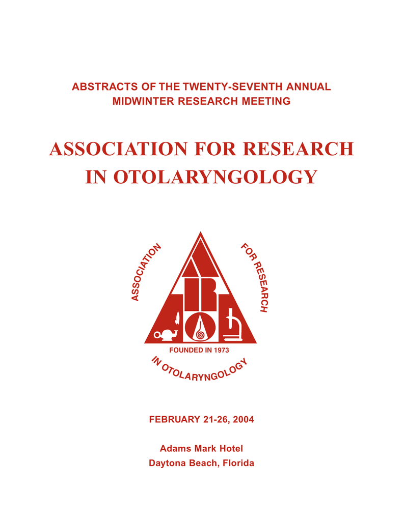 10e83a545aa57d 2004 - Association for Research in Otolaryngology