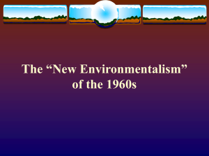 "The ""New Environmentalism"" of the 1960s"