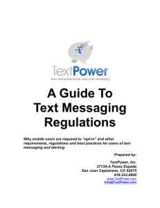 A Guide To Text Messaging Regulations