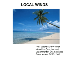Local Winds - Guest Lecture