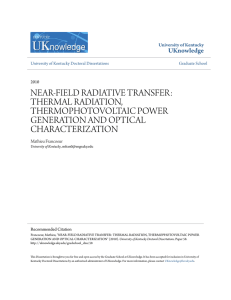 near-field radiative transfer: thermal radiation