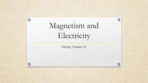 Magnetism and Electricity - Bloomsburg Area School District