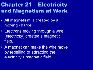Chapter 21 – Electricity and Magnetism at Work