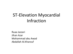 ST-Elevation Myocardial Infaraction