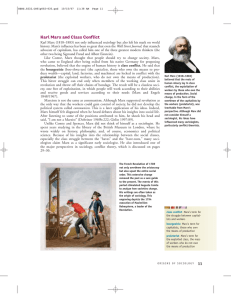 Karl Marx and Class Conflict