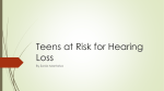 Teens at Risk for Hearing Loss