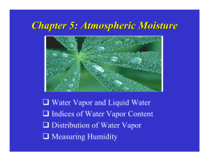 Chapter 5: Atmospheric Moisture