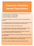 Learner Expectations Science 5
