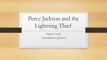 Percy Jackson and the Lightning Thief Power Point Chapters 5 and 6