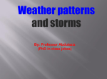 Weather patterns and storms