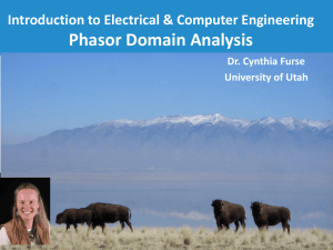 Lecture 7-3 Phasor Domain Analysis