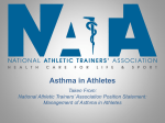 Asthma in Athletes - National Athletic Trainers` Association