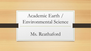 Academic Earth / Environmental Science Ms. Reathaford