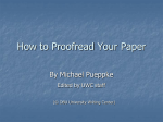 How to Proofread Your Paper