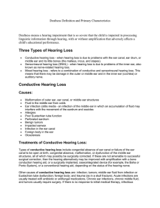 Treatment of Sensorineural Hearing Loss