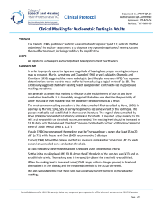 Clinical Masking for Audiometric Testing in Adults
