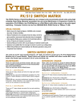 PX/512 SWITCH MATRIX