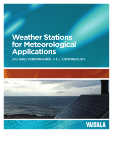 Weather Stations for Meteorological Applications