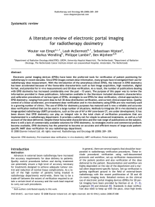 A literature review of electronic portal imaging for