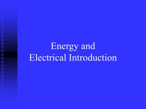 Energy and Electrical Definitions