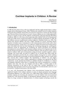 Cochlear Implants in Children: A Review